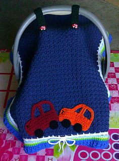 Car Seat Tent Cover [ Free Crochet Pattern ] These are very popular right now!!