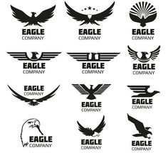 Eagles vector logo set by MicroOne on @creativemarket
