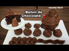 Betún de chocolate, frosting de chocolate extra delicioso 😋 muy fácil - YouTube Spanish Desserts, Mini Tortillas, Chocolates, Cake, Manga, Food, Youtube, Mulches, Chocolate Bars
