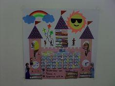 Castle calendar board