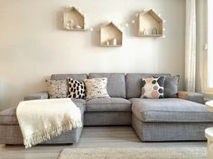 Discover more about rental decor storage spaces Check the webpage for more information Ikea Living Room, Living Room Grey, Home And Living, Living Spaces, Canapé Ikea Kivik, Ikea Sofas, Ikea Bank, Deep Couch, Small Room Decor