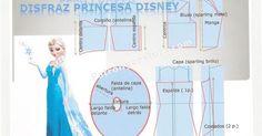 Patrón y costura : DIY Elsa Frozen Princesa Disney disfraz.Tema 115