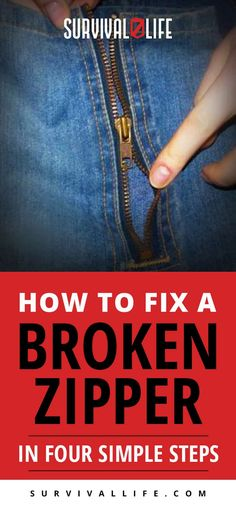 Broken Zipper | How to Fix a Broken Zipper In Four Simple Steps
