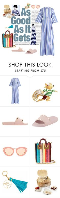 """""""Down by the riverside"""" by juliabachmann ❤ liked on Polyvore featuring Thierry Colson, Valentino, Karen Walker, Sophie Hulme and Rebecca Joseph"""
