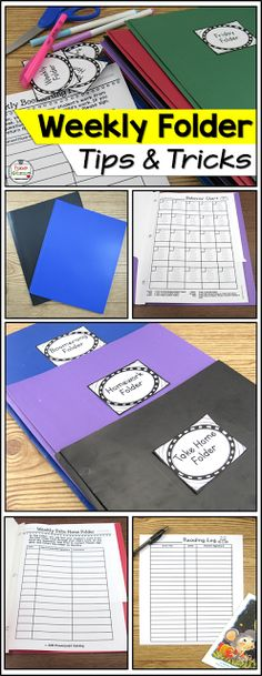 Homework folders, daily folders, weekly folders. Here are some DIY tips and trips for take home folders.
