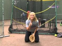 Softball tips on the blocking the ball with Jen Schroeder - YouTube