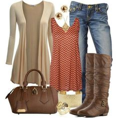 A fashion look from September 2013 featuring Doublju cardigans, Vero Moda tops y Steve Madden boots. Browse and shop related looks. Mode Outfits, Chic Outfits, Fashion Outfits, 30 Outfits, Fashion Boots, Fashion Ideas, Fashion Trends, Fashion Moda, Look Fashion