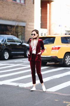 Velvet Suiting @fashionfforever