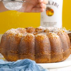 This Coconut Rum Cake is SO good, you have to make it! This recipe adds even more Caribbean flavor to the classic cake recipe with the sweet infusion of coconut and a buttery glaze. Rum Cake is such a delicious dessert, we love making it for the holidays! Rum Cake Recipe Easy, Pound Cake Recipes, Easy Cake Recipes, Sweet Recipes, Baking Recipes, Myers Rum Cake Recipe, Coconut Rum Cake Recipe From Scratch, Puerto Rican Rum Cake Recipe, Rum Cake Glaze Recipe