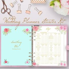 Wedding Planner Book, Printable Wedding Binder Printables These wedding planning printables are a great starter kit to add to your wedding planner book or wedding planning binder. This 5 page Wedding Planner Starter Pack includes: https://www.etsy.com/listing/497824231/wedding-planner-book-wedding-planning