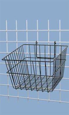"""Black Mini-Grid Baskets - 12"""" x 12"""" x 8"""""""