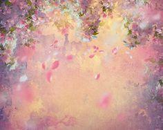 NIVIUS PHOTO® 150*150cm pastell ölgemälde blume blossom gedruckt foto-studio neugeborenen vinyl fotografie hintergrund D-7234