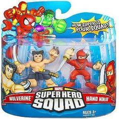 Marvel Superhero Squad Series 8 Mini 3 Inch Figure 2-Pack Wolverine and Hand Ninja Marvel http://www.amazon.com/dp/B0019SQXAI/ref=cm_sw_r_pi_dp_LjV3tb16020W657V