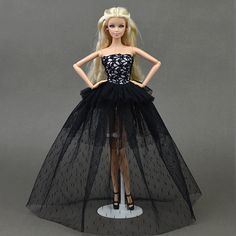 Doll Clothes For Barbie Princess Wedding Dress Noble Party Gown For Barbie Doll Fashion Design Outfit Best Gift For Girl' Doll