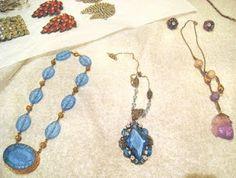 Historic costume jewelry display