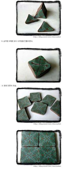 리치모리(핸드메이드 쥬얼리)   [폴리머클레이 강좌] 문양 케인 만들기 - Daum 카페