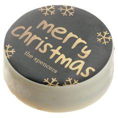 Radiant Snowflakes Custom Christmas Oreo® Cookies