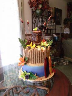 Luau cake....too cute