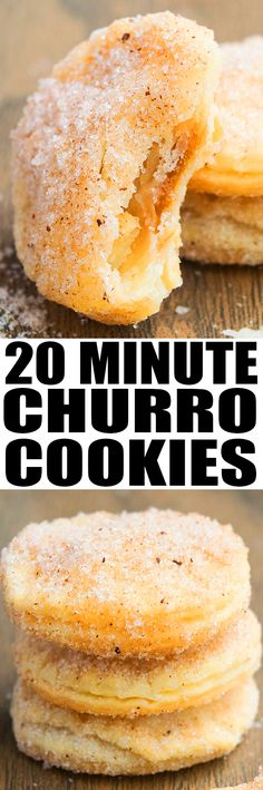 Quick and easy Churro Cookies recipe, made with 4 ingredients. These crunchy, crispy cookies are ready in 20 minutes!