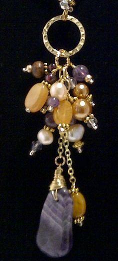 Handmade Necklace. WWW.brightstarglass.com