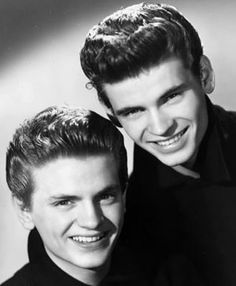 The Everly Brothers, Phil (left) and Don (right), in a January 1st, 1958 publicity portrait for Cadence Records.