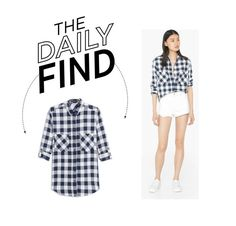 """""""Daily Find: Mango Navy Blue Shirt"""" by polyvore-editorial ❤ liked on Polyvore featuring MANGO and DailyFind"""