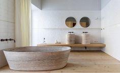 DAzulterrA l A bath at SANTA CLARA 1728 HOTEL l Lisboa l Portugal by Aires Mateus