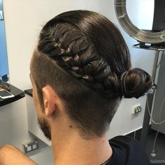 Men Bun With Braid For Undercut                                                                                                                                                     More