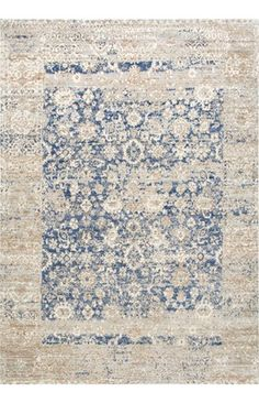 Silky Road Muted Floral Design AS18 Rug