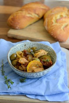 Hähnchen mit Oliven und Zitronen  (Poulet au citron et aux olives)