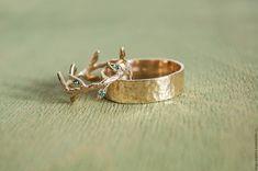 Wedding Rings | Золотые обручальные кольца Песня леса (taiga_jewelry) в интернет магазине на Ярмарке Мастеров