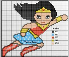 Wonder Woman x-stitch
