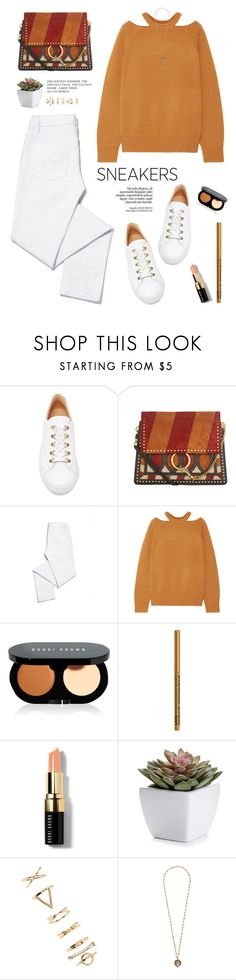 """""""White sneakers"""" by yexyka ❤ liked on Polyvore featuring Koio, Chloé, Tory Burch, Jason Wu, Bobbi Brown Cosmetics, NYX, Forever 21, Gucci, white and Sweater"""