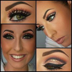 Found this on Jaclyn Hill's pin. She has tutorial for any kinda make-up styles, colors, & occasion. Thanks Hollyann for the correction!