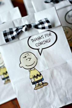 Lembrancinha festa Snoopy