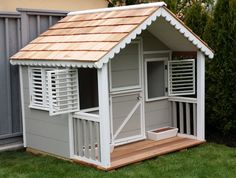 CanadianPlayhouseFactory Little Alexandra Cottage Playhouse & Reviews | Wayfair
