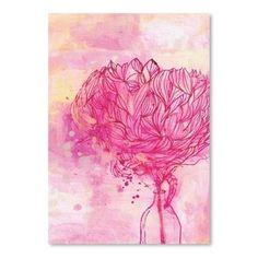 Plagát Painted Peony, 30x42 cm