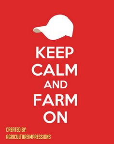 Great saying. Love these photos via Agriculture Impressions.