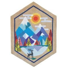 Alpine Cross Stitch Pattern – Stitched Modern