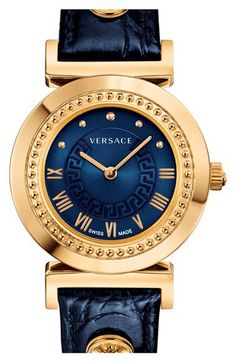 Discover the large collection of Versace watches on The Golden Time. Versace watches collection is a legacy timepiece. Authentic - The Golden Time Elegant Watches, Stylish Watches, Beautiful Watches, Luxury Watches, Cool Watches, Watches For Men, Versace Watches, Versace Versace, Necklaces