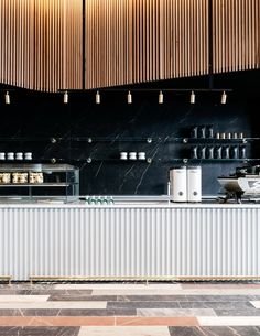Studio Tate points to old treasures with coffee shop for Commonwealth Bank of Australia - Haus Dekoration ideen 2018 - Travel & Restaurants Café Design, Design Studio, Design Ideas, Commercial Design, Commercial Interiors, Cafe Restaurant, Restaurant Design, Cafe Counter, Counter Design