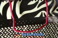 Bolsas de lujo con cordón de algodón.