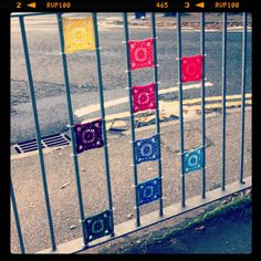 Thames ditton yarnbomb fence