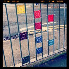 Thames ditton yarnbomb fence