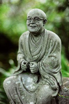 Little statue of Buddhist monk at Nanzōin temple, Fukuoka, Japan