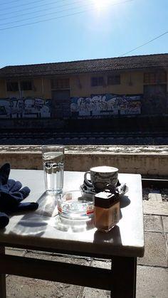 Greece, Kozani , Train Station, Coffè, Cannella