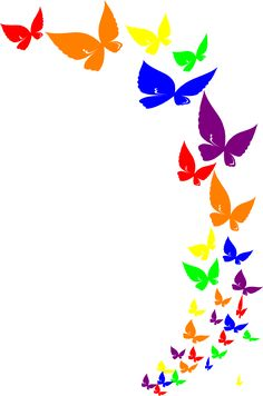 Great free clipart, png, silhouette, coloring pages and drawings that you can use everywhere. Butterfly Clip Art, Butterfly Images, Butterfly Drawing, Rainbow Butterfly, Butterfly Frame, Love Pink Wallpaper, Butterfly Wallpaper, Vintage Clipart, Pencil Drawings Of Flowers