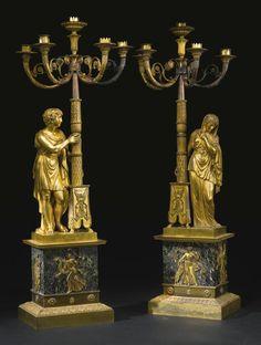 A pair of Consulat ormolu five-light candelabra circa 1805 Sotheby's