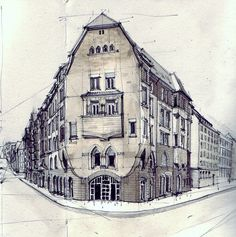 watercolors of buildings by flaf on flickr http://www.flickr.com/photos/flaf/