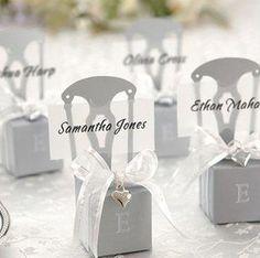 Wedding Candy Box Gift Box Half-handmade Box Silver color chair candy boxes 100pcs/lot